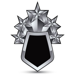 Heraldic 3d glossy icon for use in web and graphic design, penta