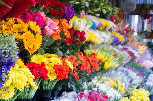 In de dag Bloemen Flower stand