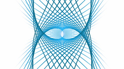 blue wires  rotating, circular dynamic motion on white
