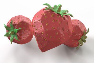 クレイ風イチゴ