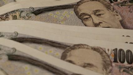 Japanese Yen Turning Close up