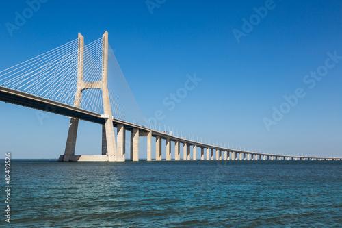 Plexiglas Brug Vasco da Gama Bridge in Lisbon