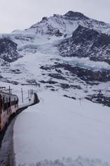 The Jungfrau railway is a metre gauge rack railway which runs 9