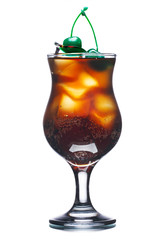 Fizzy alcoholic cocktail