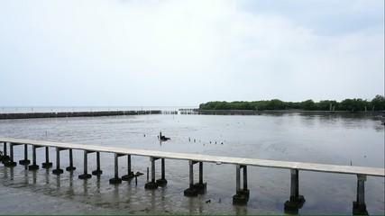 Serene shore line of Thailand