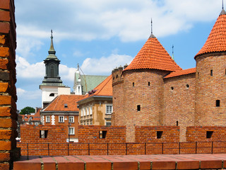 Barbikan - a fortress in Warsaw, Poland