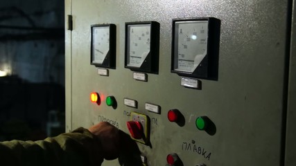 Power electric Cabinet with needle indicator and buttons