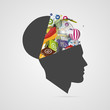 Abstract creative open head. Genius mind. Vector - 82452308