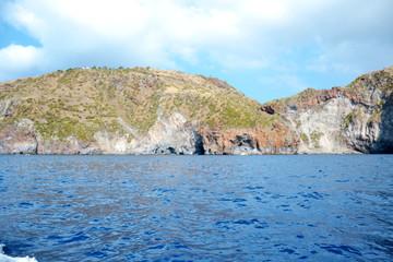 Beautiful coast of the island of Volcano - Sicily