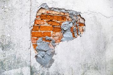 Hauswand kaputtes Mauerwerk