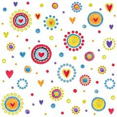 Pattern. Watercolors decorative elements