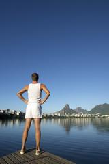 Athlete Standing White Uniform Rio de Janeiro