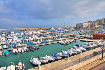 Panoramic view of Bisceglie. Puglia. Italy.
