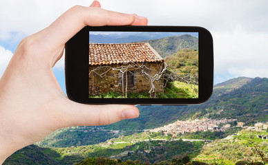picture of mountain landscape with Savoca village