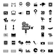 Movie & Cinema black icons
