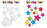 Coloring Book Page Stars