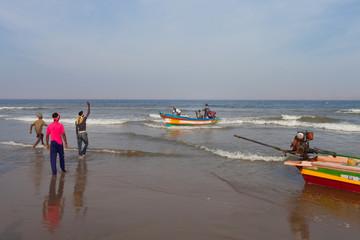 Village de pêcheurs traditionnels indiens 0881