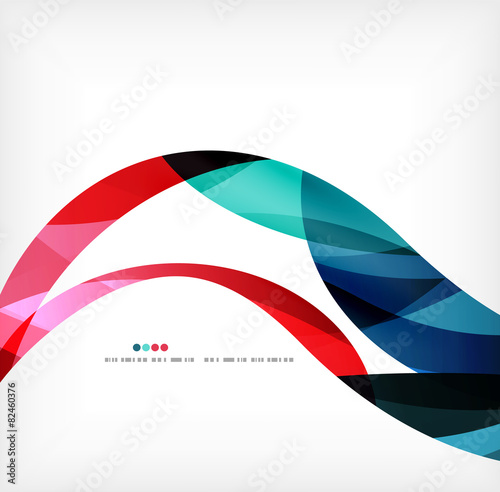 Business wave corporate background - 82460376