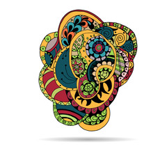 Vector floral decorative paisley ethnic background. pattern with