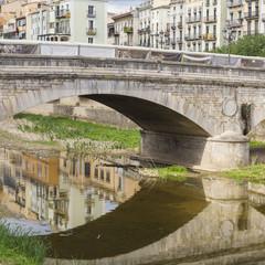 Stone bridge detail in Girona