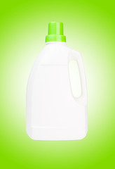 White bottle of cleaning supply isolated