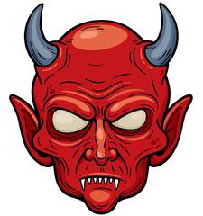 Vector illustration of Devil face
