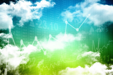 Cloud Digital Abstract business background