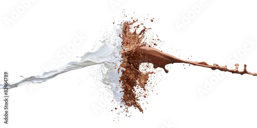chocolate and milk splash - 82464789