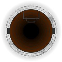 open sewer pit vector illustration