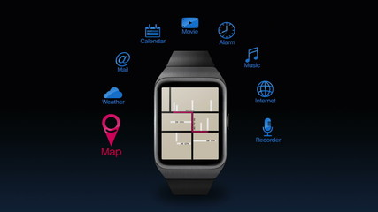 Various application function for smart watch(included Alpha)