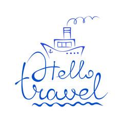 Emblem - sea and travel
