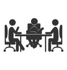 Flat office communications icon isolated on white background