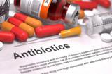 Antibiotics - Medical Concept. Composition of Medicamen. - 82470174