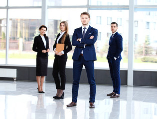 Group portrait of a professional business team looking confident