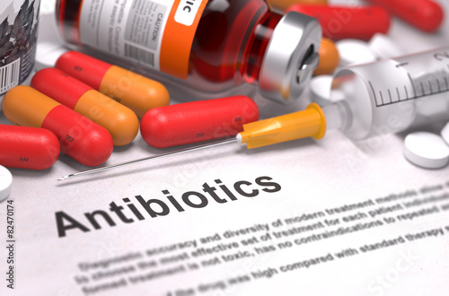 Antibiotics - Medical Concept. Composition of Medicamen. - 82470174
