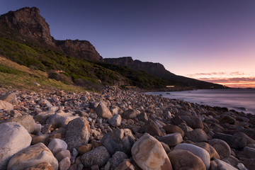 Pebble beach at Camp's Bay area, Cape Town