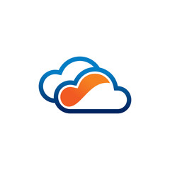 Couple Cloud Logo Template
