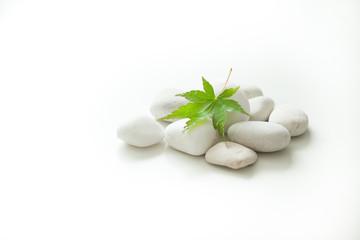 玉石を使った和のイメージ