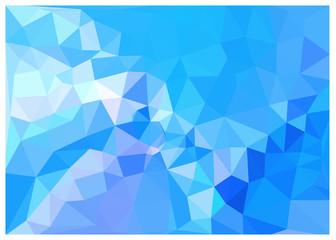 キュビズム背景_鮮やかなブルー