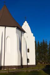Gothic Church in Ishkold (Iszkoldz), Belarus.