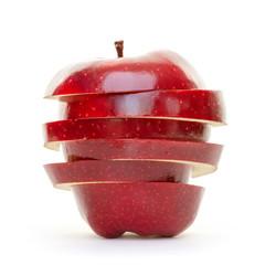 Gestapelte Apfelscheiben rot