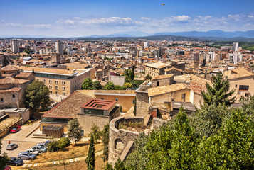 View of the City of Girona in Spain.
