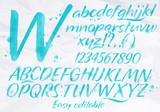 Modern alphabet blue color. - 82480978