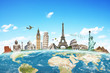 Illustration of famous monument of the world - 82485774