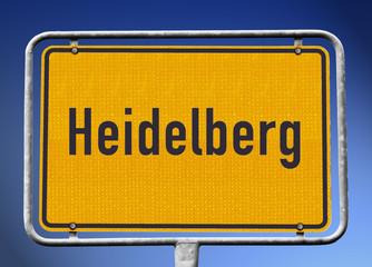 Ortsschild Heidelberg
