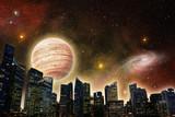 skyline of futuristic city - 82488990