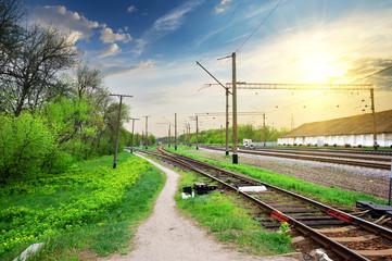 Poles on a railway