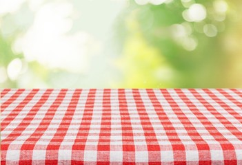 Picnic. Empty table for Your photomontage or product display.