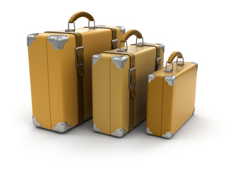 Suitcases (clipping path included)