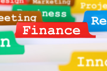 Finance business concept register in documents
